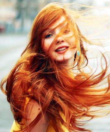 Redhead - Long Red Hair - Blue Eyes - Straight Hair
